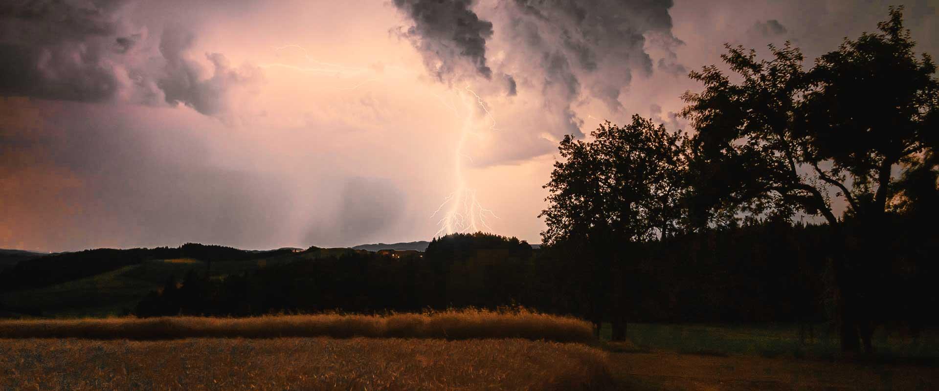 Überspannungsschäden durch Gewitter