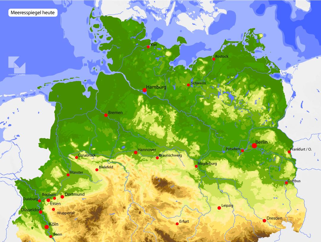 Norddeutschland Meeresspiegel heute
