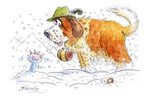 Kater Sebastian und der Lawinenhund